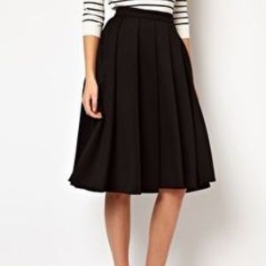 ASOS • black box pleat midi skirt